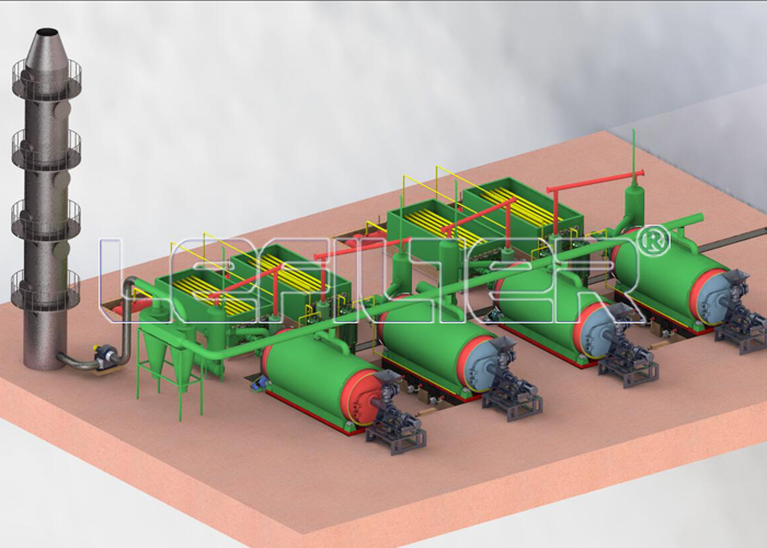 Used waste tire refining equipment