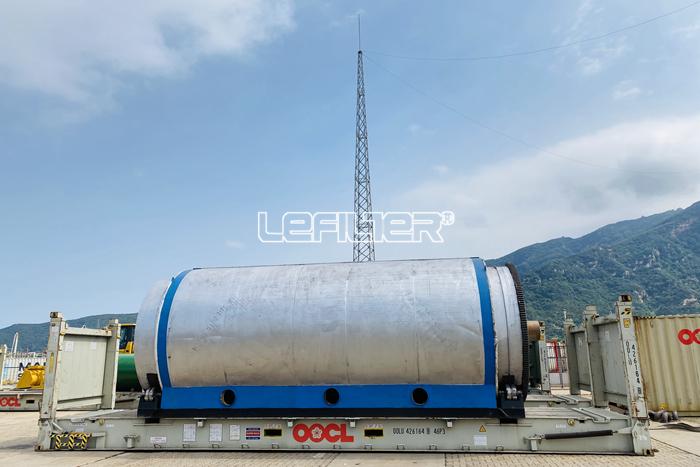 Installed in Vietnam batch type waste tyr